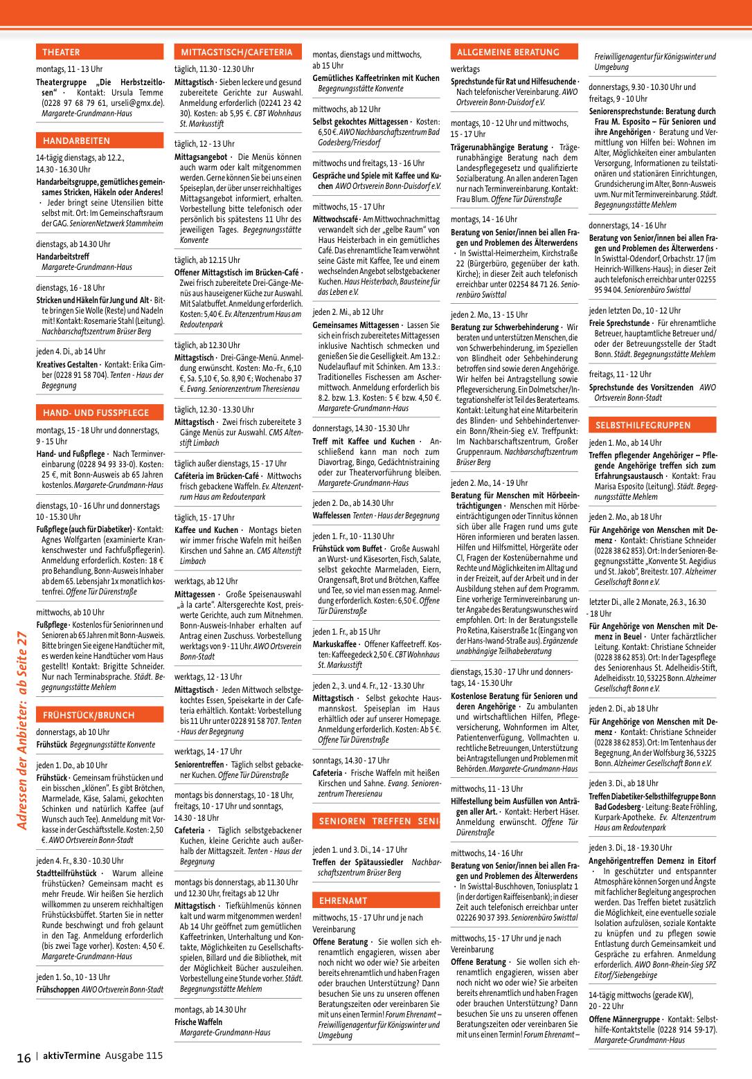 Ideal Werbeagentur: Verlag: aktivTermine: Ausgaben-Archiv